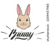 vector cute bunny girl portrait.... | Shutterstock .eps vector #1059457985