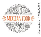mexican food logo  icon and... | Shutterstock .eps vector #1059466322