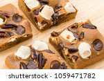 blondie cake with marshmallow...   Shutterstock . vector #1059471782