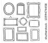 cute hand drawn frames vector...   Shutterstock .eps vector #1059474458