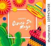 happy cinco de mayo greeting... | Shutterstock .eps vector #1059476438