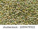 Pile Of Green Lentil Grains...