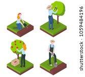 harvesting and farming.... | Shutterstock .eps vector #1059484196