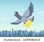 mailing service with flying... | Shutterstock .eps vector #1059484415