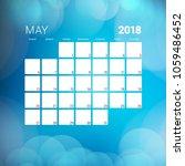 may 2018. calendar planner... | Shutterstock .eps vector #1059486452