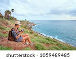photoshooting and traveling.... | Shutterstock . vector #1059489485