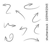 hand drawn arrows | Shutterstock .eps vector #1059492545