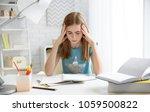 teenage girl suffering from... | Shutterstock . vector #1059500822