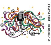abstract swirly musical...   Shutterstock .eps vector #1059503465