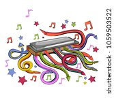 abstract swirly musical... | Shutterstock .eps vector #1059503522