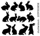 silhouette rabbit  vector... | Shutterstock .eps vector #1059503858