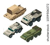 isometric pictures of army... | Shutterstock .eps vector #1059506372