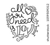 all you need is love. hand... | Shutterstock .eps vector #1059509312