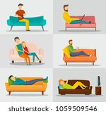 sofa chair room couch banner... | Shutterstock .eps vector #1059509546