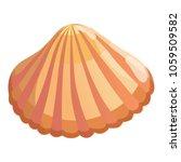 aquatic shell icon. cartoon... | Shutterstock .eps vector #1059509582