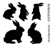 silhouette rabbit  vector... | Shutterstock .eps vector #1059509858