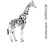 vector giraffe abstract...   Shutterstock .eps vector #105951128