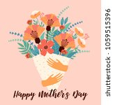 happy mothers day. vector... | Shutterstock .eps vector #1059515396