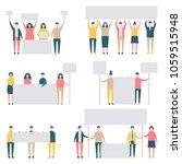 message board people vector...   Shutterstock .eps vector #1059515948