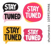 stay tuned. badge  icon set. ... | Shutterstock .eps vector #1059519446