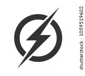 power lightning logo icon.... | Shutterstock .eps vector #1059519602