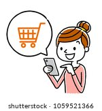 woman  smartphone  internet ...   Shutterstock .eps vector #1059521366