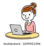 woman  internet  personal... | Shutterstock .eps vector #1059521396
