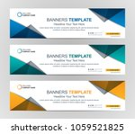 abstract web banner design... | Shutterstock .eps vector #1059521825