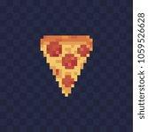 slice of pizza pixel art icon....   Shutterstock .eps vector #1059526628