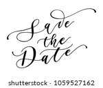 save the date calligraphy... | Shutterstock .eps vector #1059527162