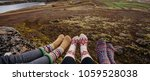 legs in socks with beautiful... | Shutterstock . vector #1059528038