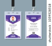 creative id card template | Shutterstock .eps vector #1059528518
