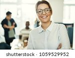 young businesswoman standing... | Shutterstock . vector #1059529952