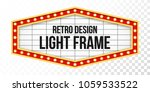 light sign over transparent... | Shutterstock .eps vector #1059533522