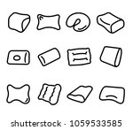 bedding and pillow vector icons ...   Shutterstock .eps vector #1059533585