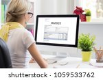 woman in office with sample... | Shutterstock . vector #1059533762