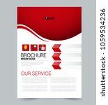 a4 size flyer template.... | Shutterstock .eps vector #1059534236