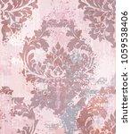 vector damask pattern element.... | Shutterstock .eps vector #1059538406
