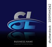 initial letter sl logotype... | Shutterstock .eps vector #1059544262