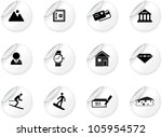 stickers with switzerland... | Shutterstock .eps vector #105954572