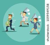 businessman holding money bag... | Shutterstock .eps vector #1059549158
