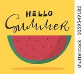 vector illustration of hello... | Shutterstock .eps vector #1059549182