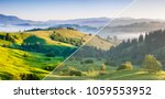 beautiful rolling countryside... | Shutterstock . vector #1059553952