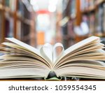 love story book with open page... | Shutterstock . vector #1059554345