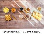 glasses of light and dark beer...   Shutterstock . vector #1059555092