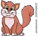 cute cat cartoon. vector... | Shutterstock .eps vector #1059568625
