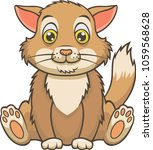 cute cat cartoon. vector... | Shutterstock .eps vector #1059568628