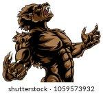 howling werewolf scary wolf man ...   Shutterstock . vector #1059573932