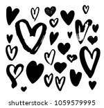 big collection of hand drawn... | Shutterstock .eps vector #1059579995