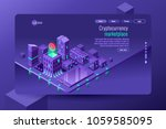 isometric city illustration as... | Shutterstock .eps vector #1059585095